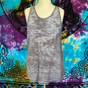 BDG Tops - Heather Grey Razor Back Workout Tank Top